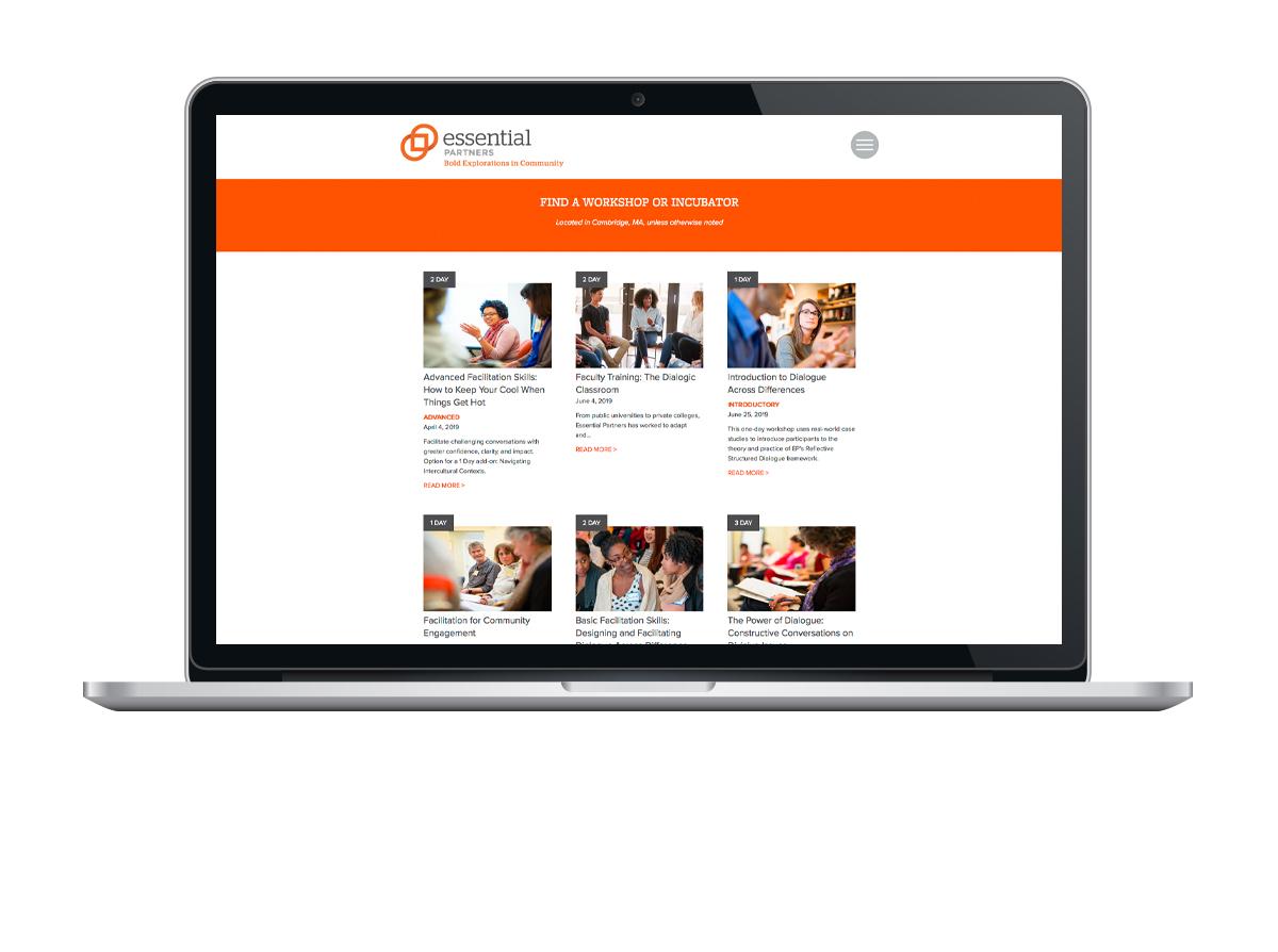 Essential Partners website