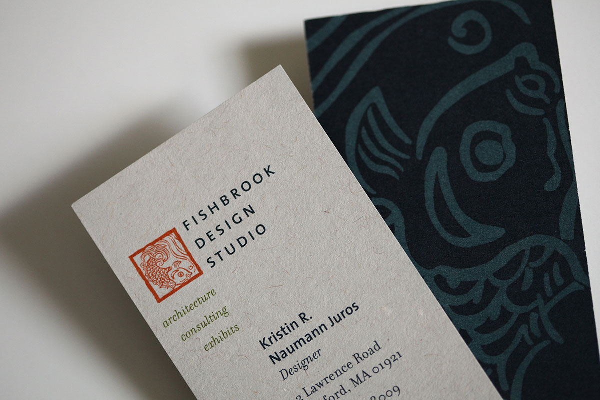 Fishbrook Design Studio business card