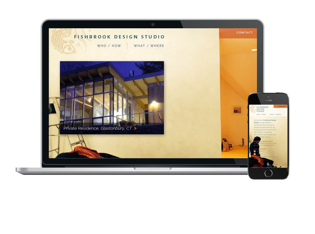 Fishbrook Design Studio website