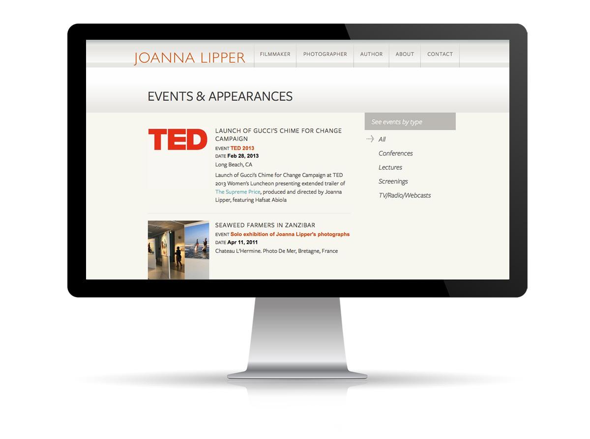 Joanna Lipper website